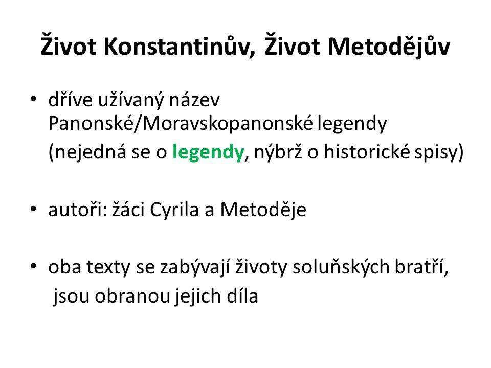 Život Konstantinův, Život Metodějův