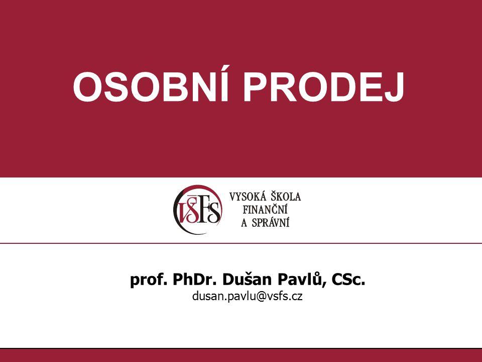 prof. PhDr. Dušan Pavlů, CSc.