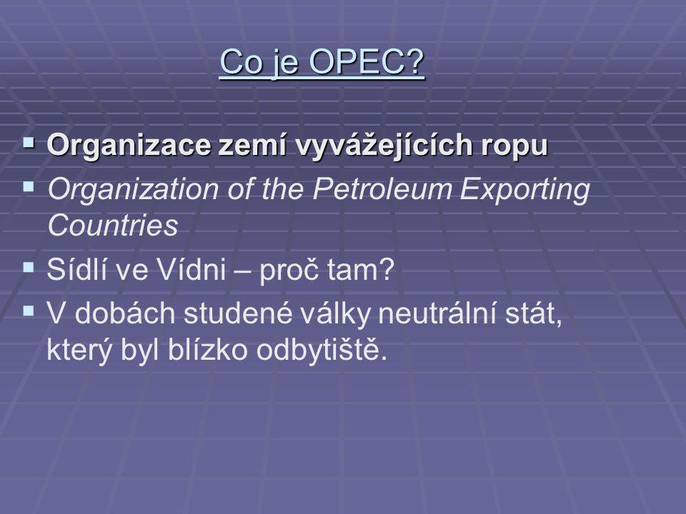 Co je OPEC Organizace zemí vyvážejících ropu