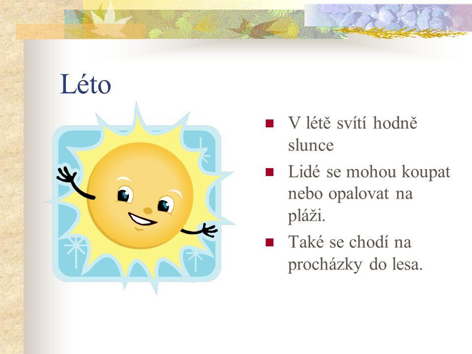 Léto V létě svítí hodně slunce