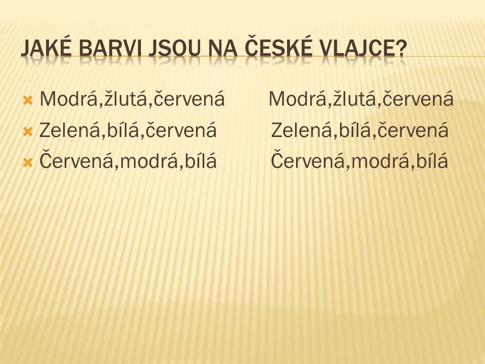 Jaké barvi jsou na české vlajce