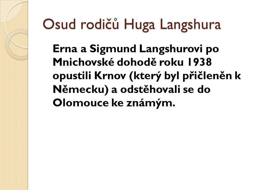 Osud rodičů Huga Langshura