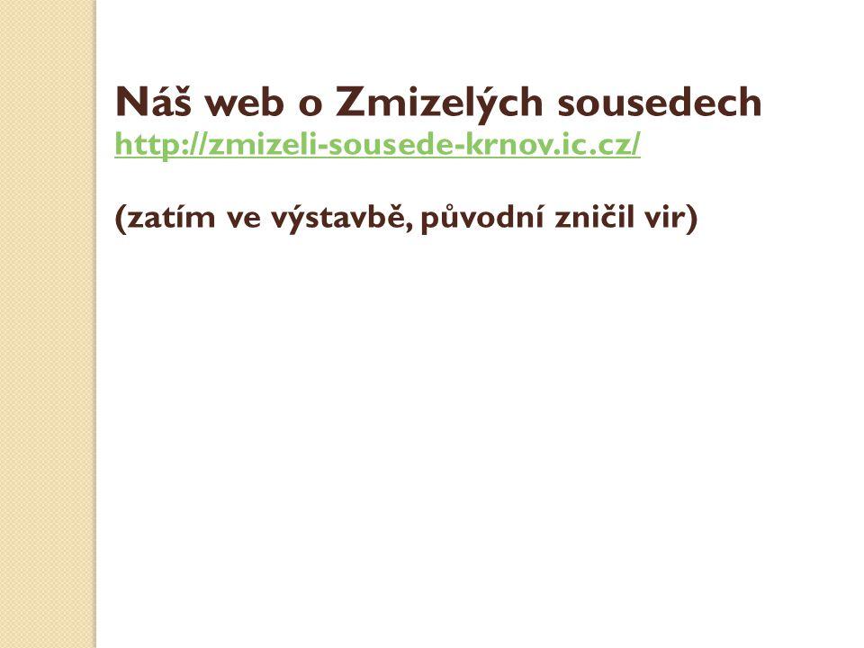 Náš web o Zmizelých sousedech