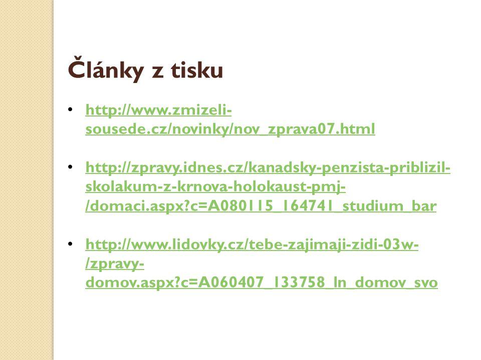 Články z tisku http://www.zmizeli-sousede.cz/novinky/nov_zprava07.html