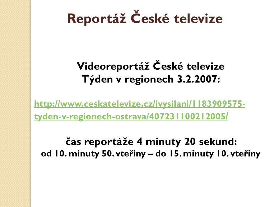 Reportáž České televize