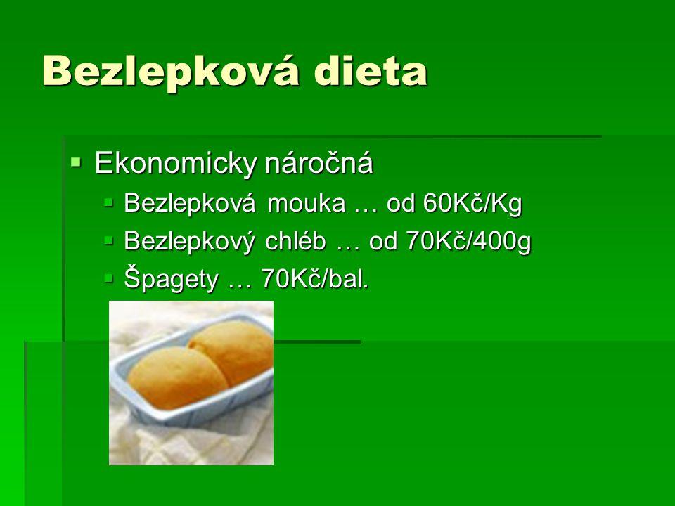 Bezlepková dieta Ekonomicky náročná Bezlepková mouka … od 60Kč/Kg