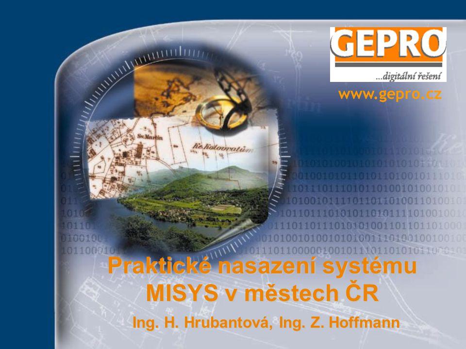 Praktické nasazení systému MISYS v městech ČR