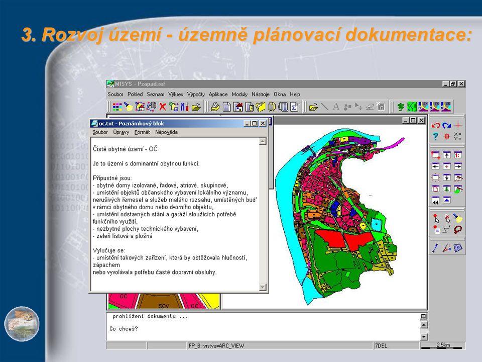 3. Rozvoj území - územně plánovací dokumentace: