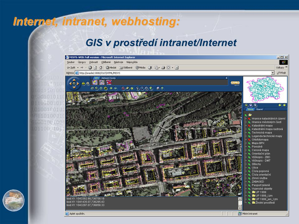 Internet, intranet, webhosting: