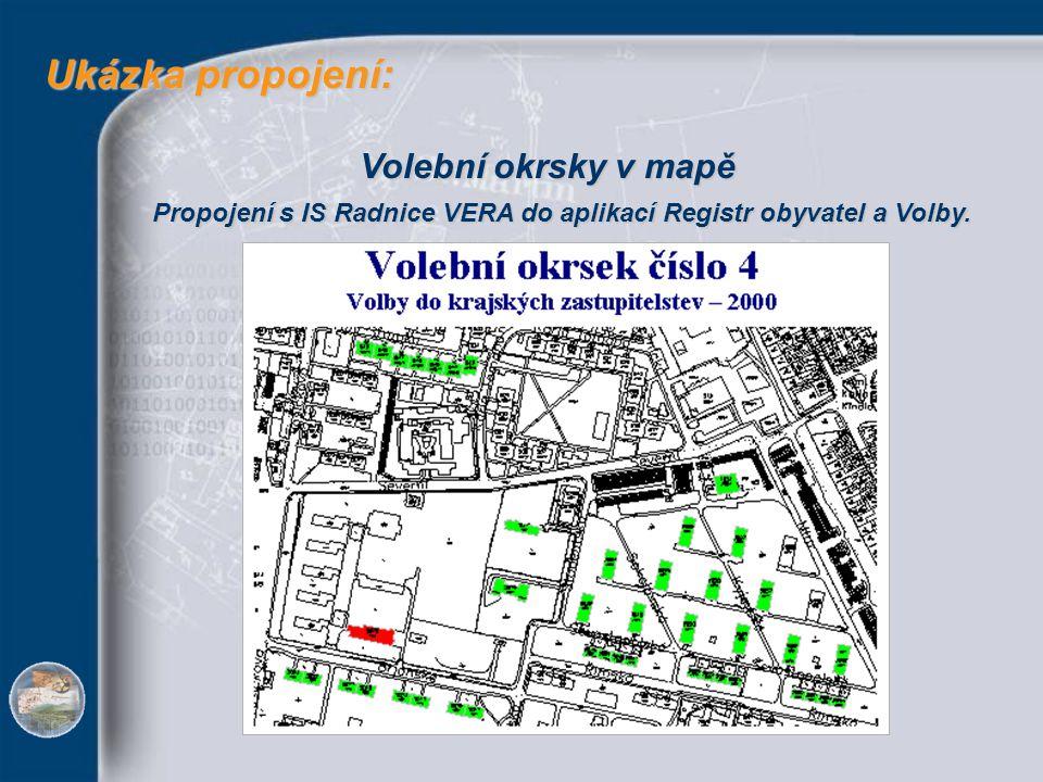 Ukázka propojení: Volební okrsky v mapě
