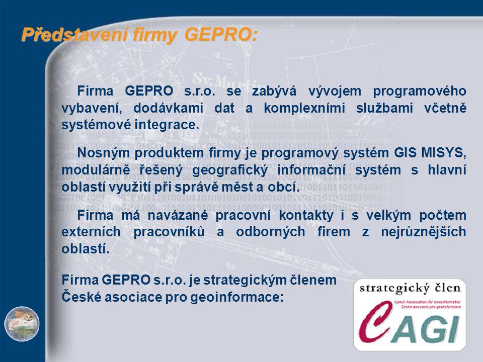 Představení firmy GEPRO: