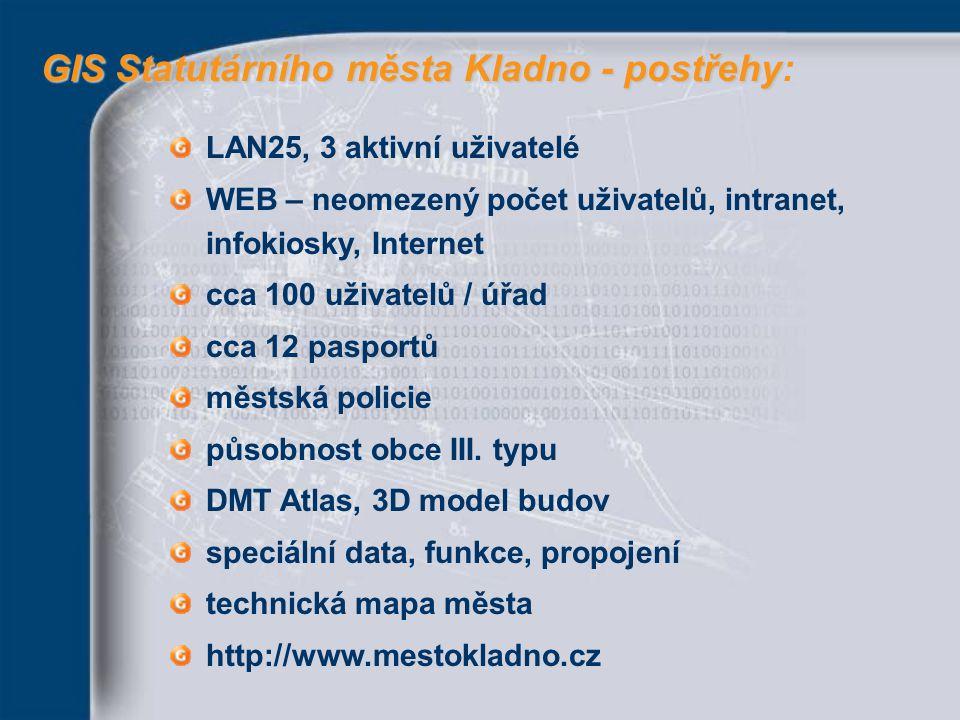 GIS Statutárního města Kladno - postřehy: