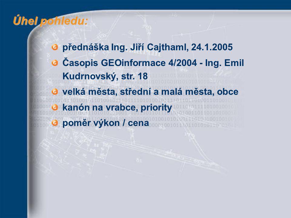 Úhel pohledu: přednáška Ing. Jiří Cajthaml, 24.1.2005
