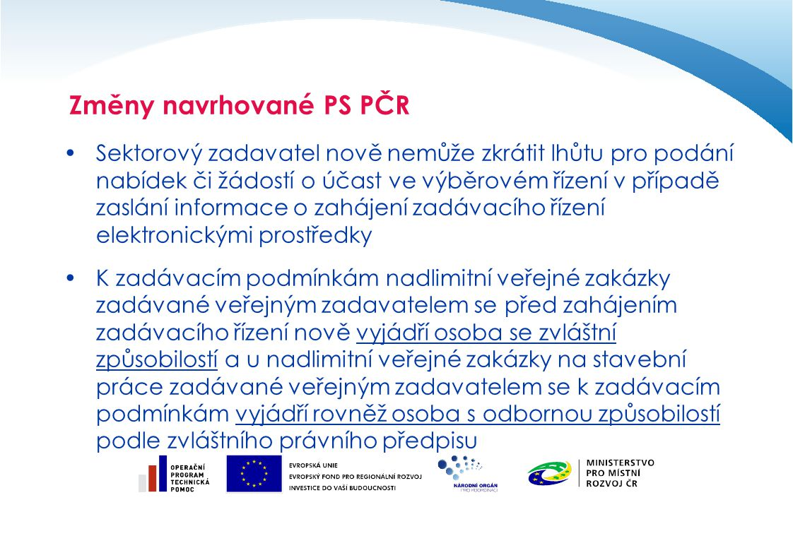 Změny navrhované PS PČR