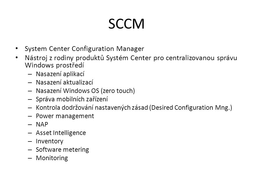 SCCM System Center Configuration Manager