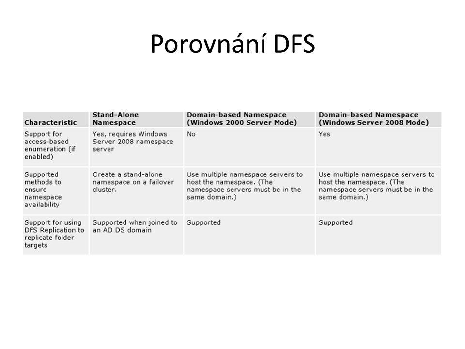 Porovnání DFS