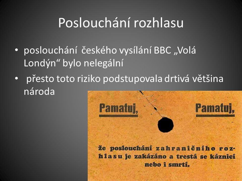 """Poslouchání rozhlasu poslouchání českého vysílání BBC """"Volá Londýn bylo nelegální."""