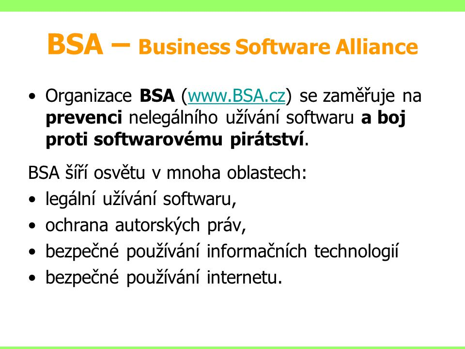 BSA – Business Software Alliance