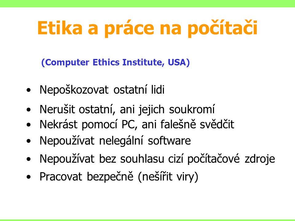 Etika a práce na počítači