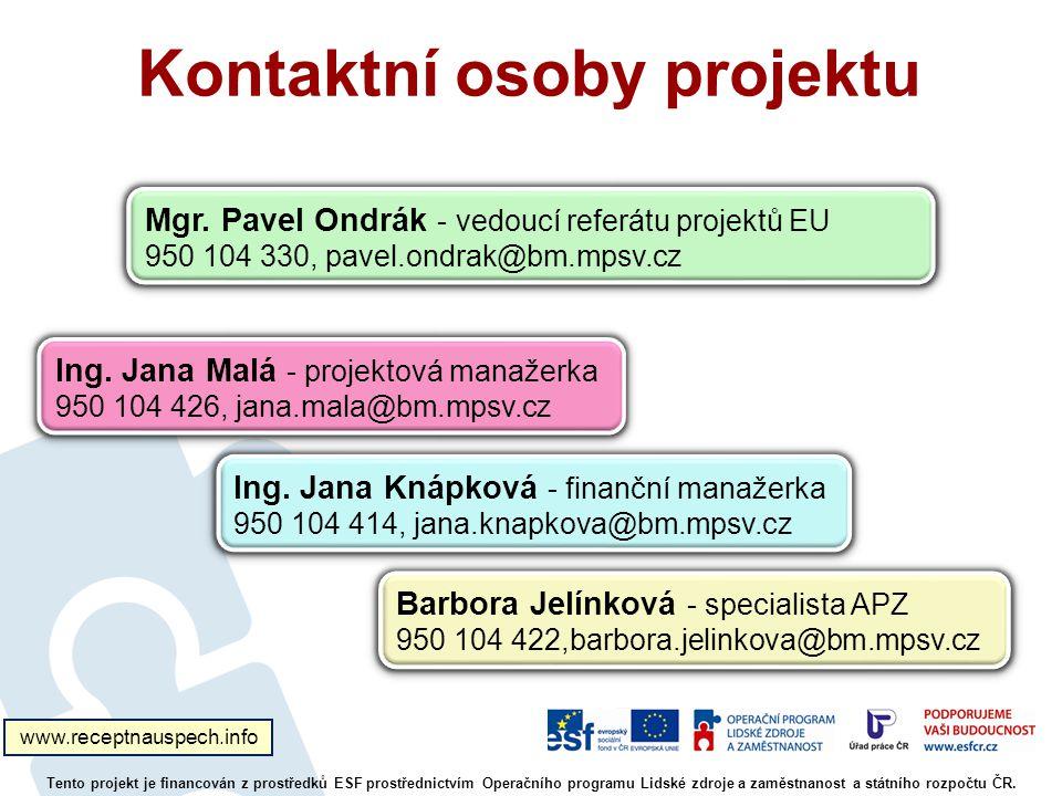 Kontaktní osoby projektu
