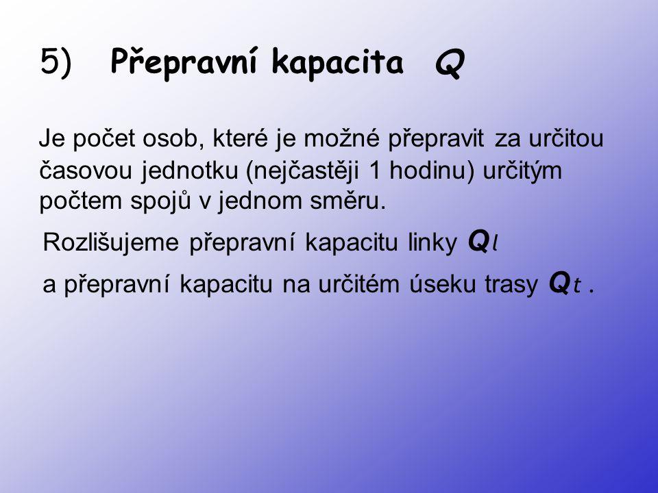 5) Přepravní kapacita Q