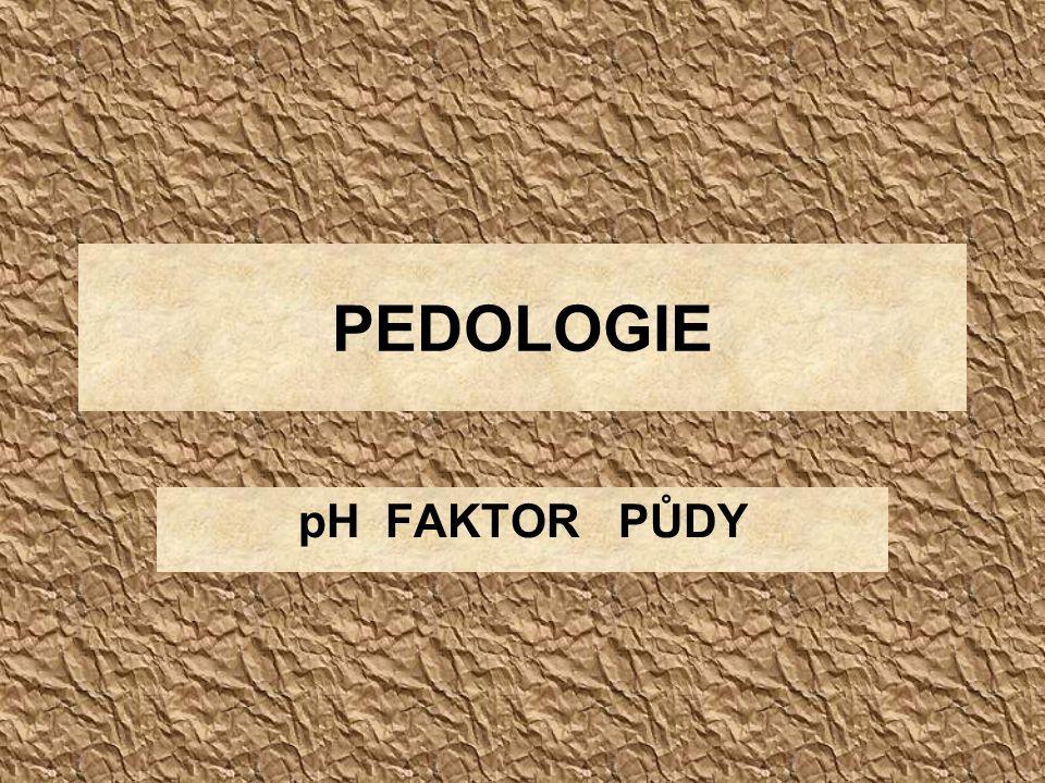 PEDOLOGIE pH FAKTOR PŮDY