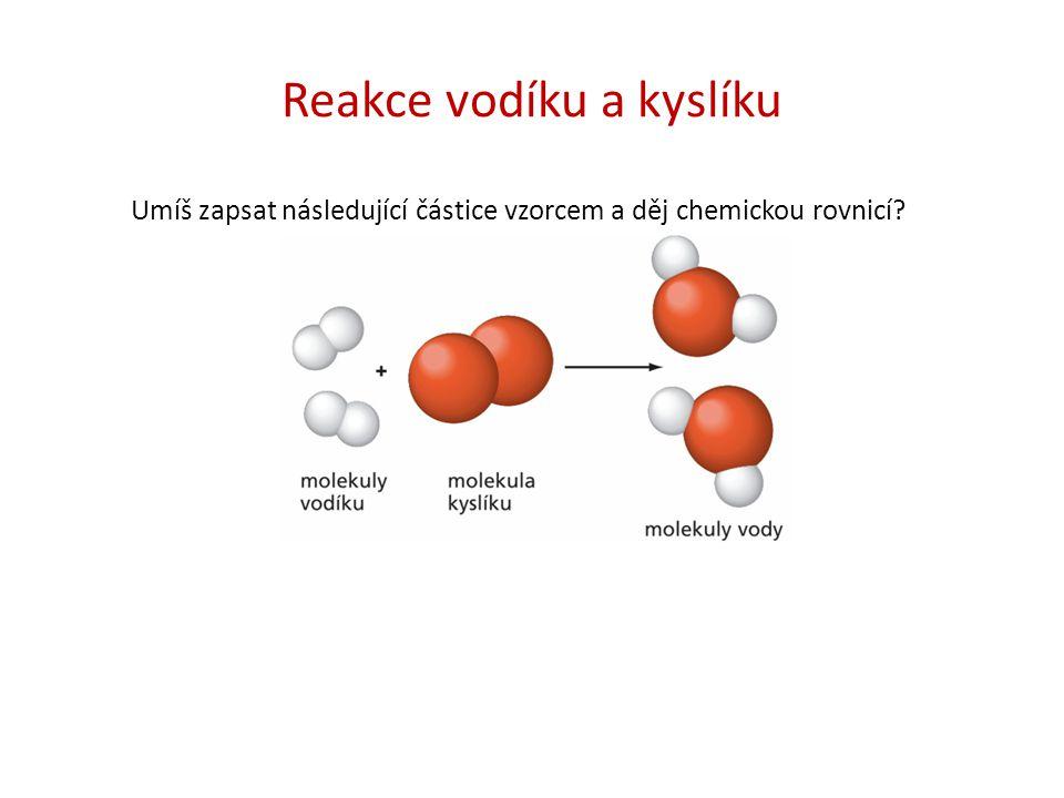 Reakce vodíku a kyslíku