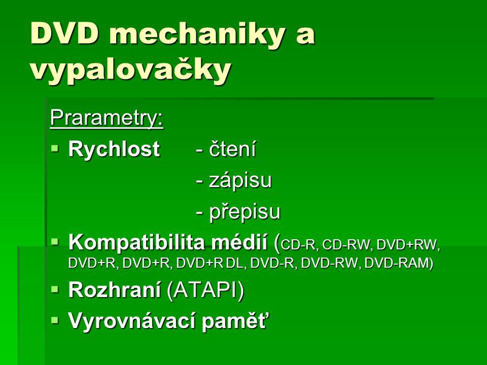 DVD mechaniky a vypalovačky