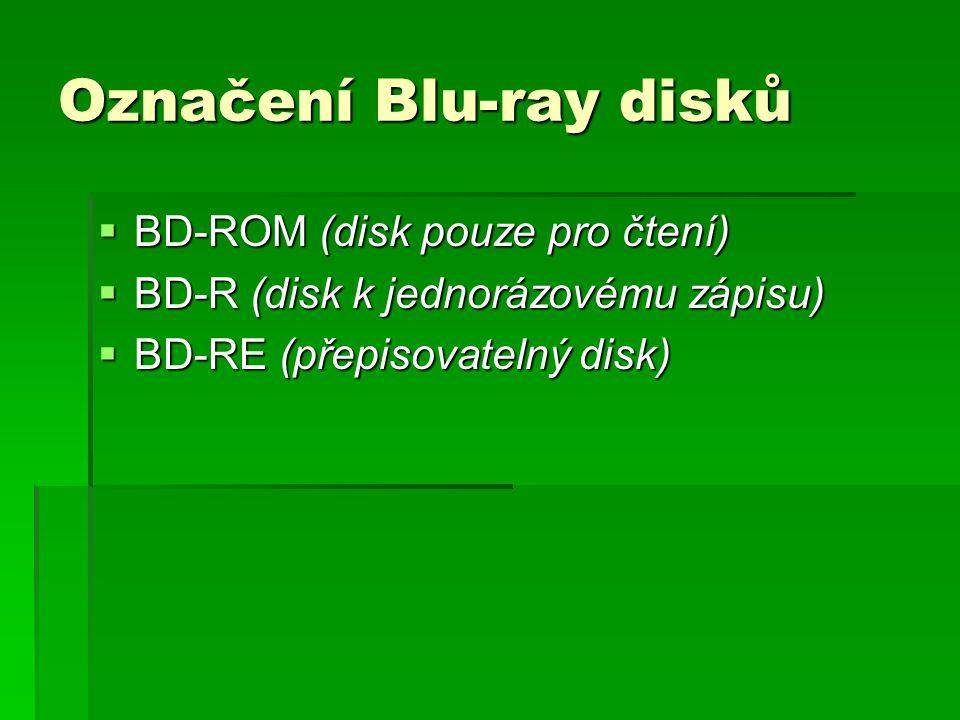 Označení Blu-ray disků
