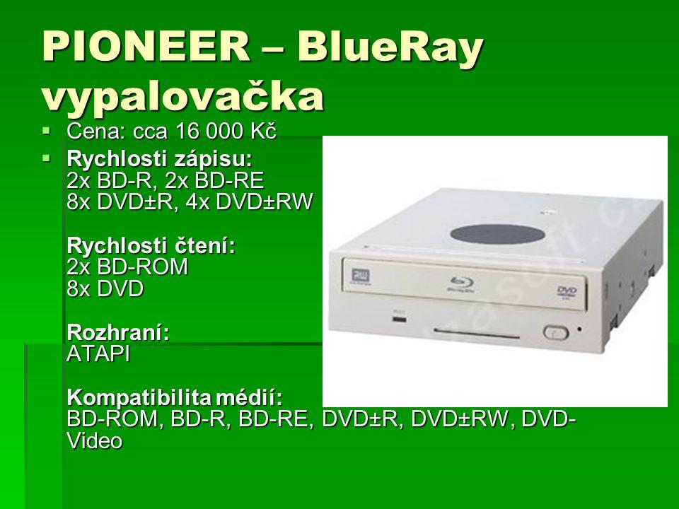 PIONEER – BlueRay vypalovačka