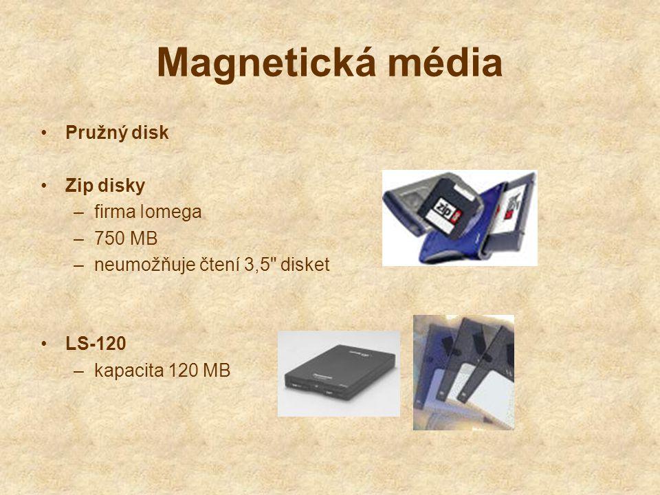 Magnetická média Pružný disk Zip disky firma Iomega 750 MB
