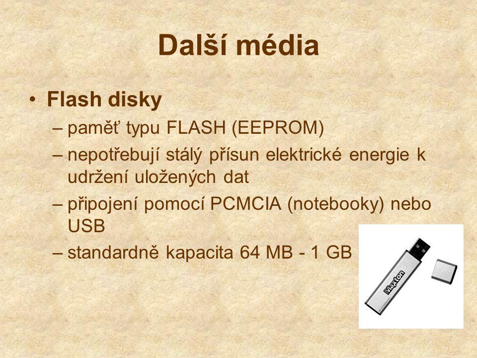 Další média Flash disky paměť typu FLASH (EEPROM)