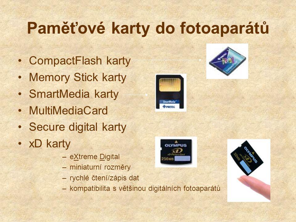 Paměťové karty do fotoaparátů