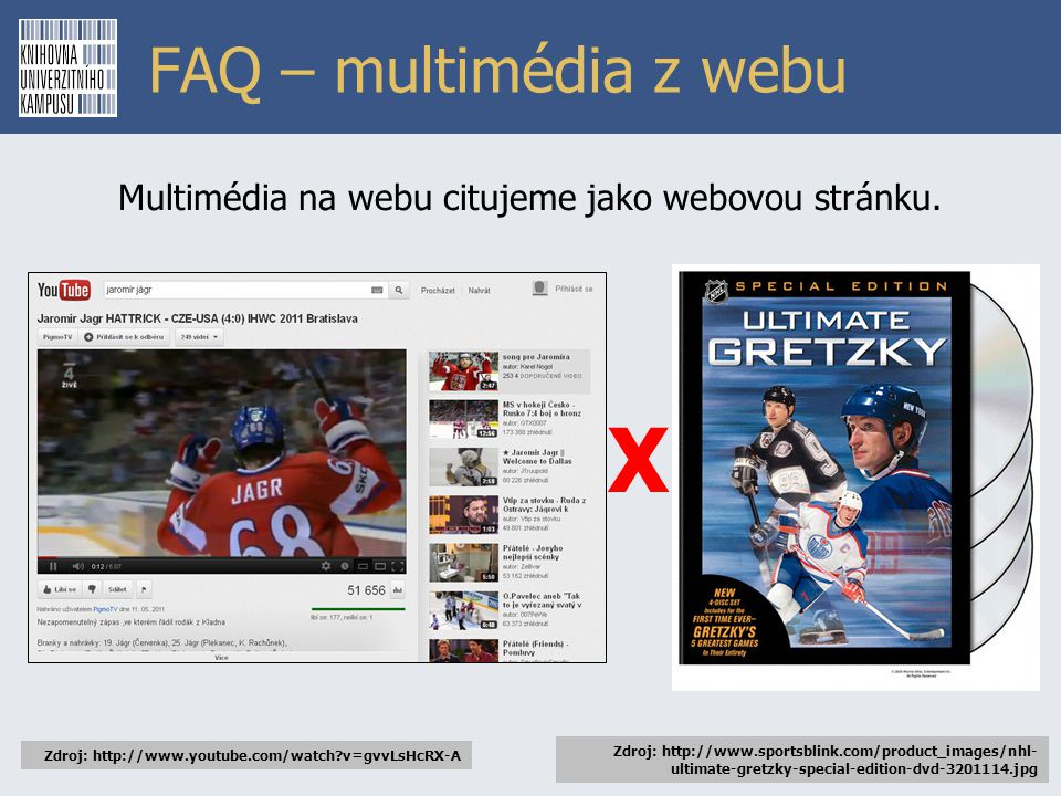 Multimédia na webu citujeme jako webovou stránku.