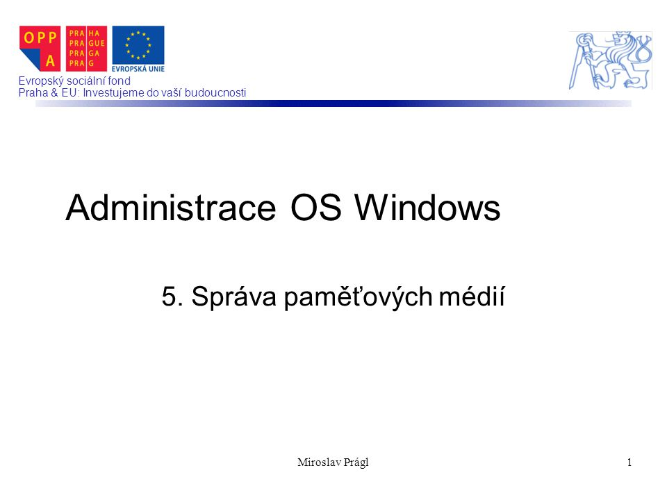 Administrace OS Windows