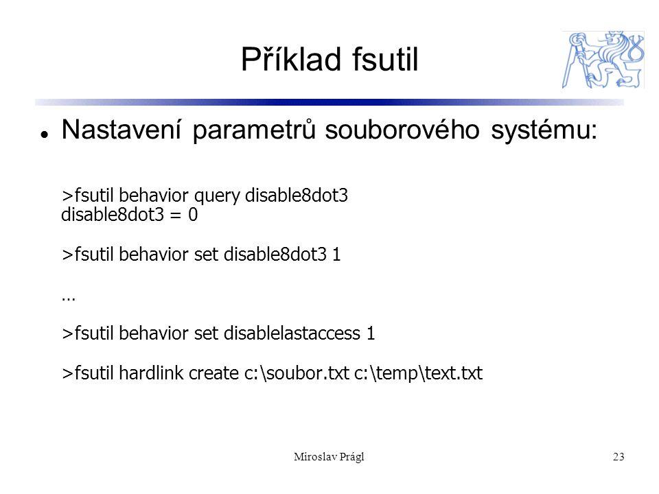 Příklad fsutil Nastavení parametrů souborového systému:
