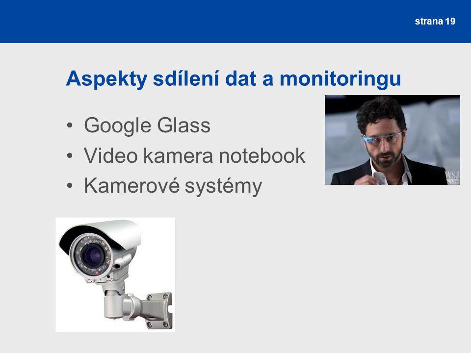 Aspekty sdílení dat a monitoringu
