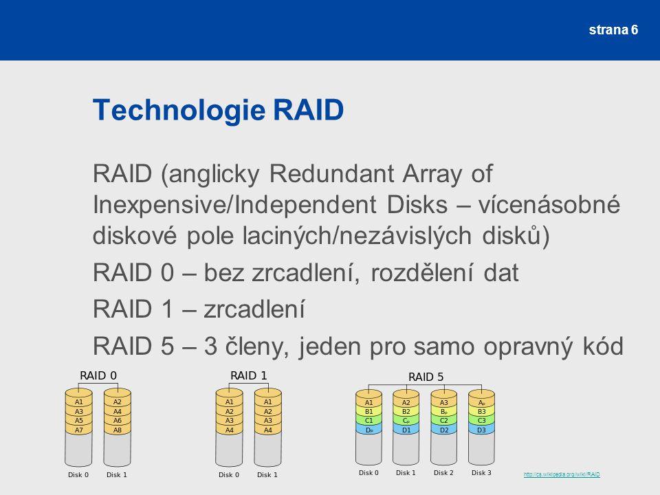 Technologie RAID