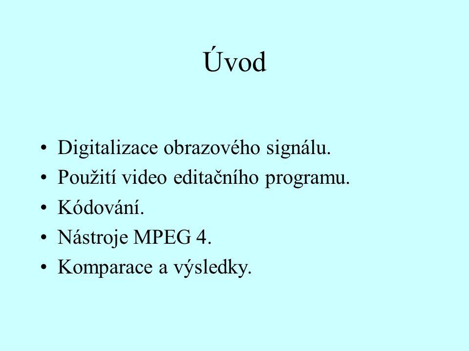 Úvod Digitalizace obrazového signálu.