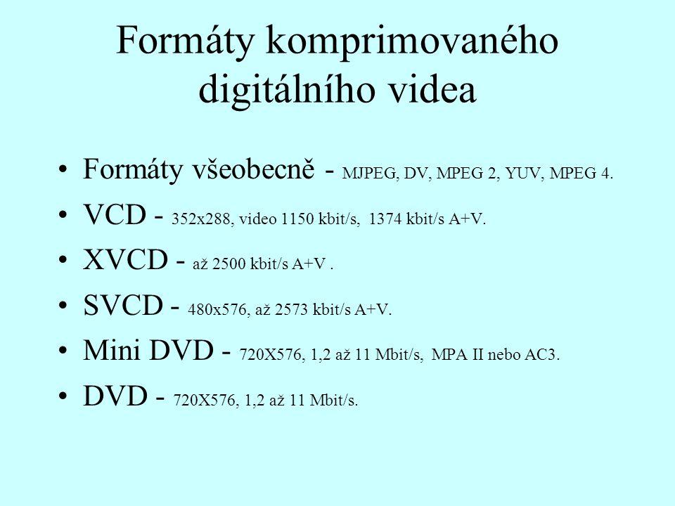 Formáty komprimovaného digitálního videa