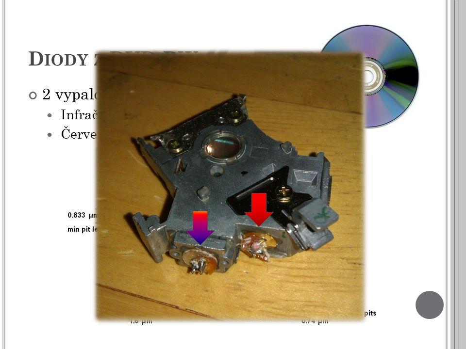 Diody z DVD-RW 2 vypalovací diody Infračervená Červená