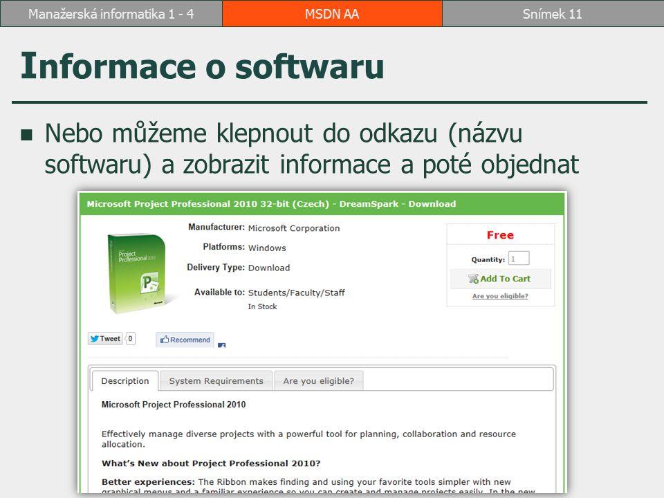 Manažerská informatika 1 - 4