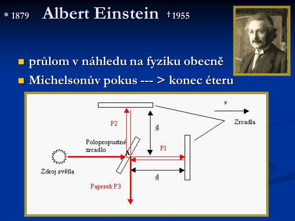 průlom v náhledu na fyziku obecně