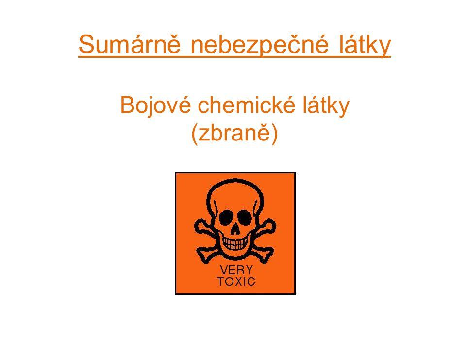 Sumárně nebezpečné látky Bojové chemické látky (zbraně)