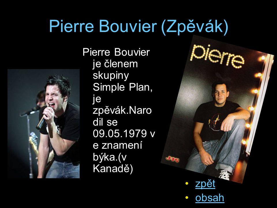 Pierre Bouvier (Zpěvák)
