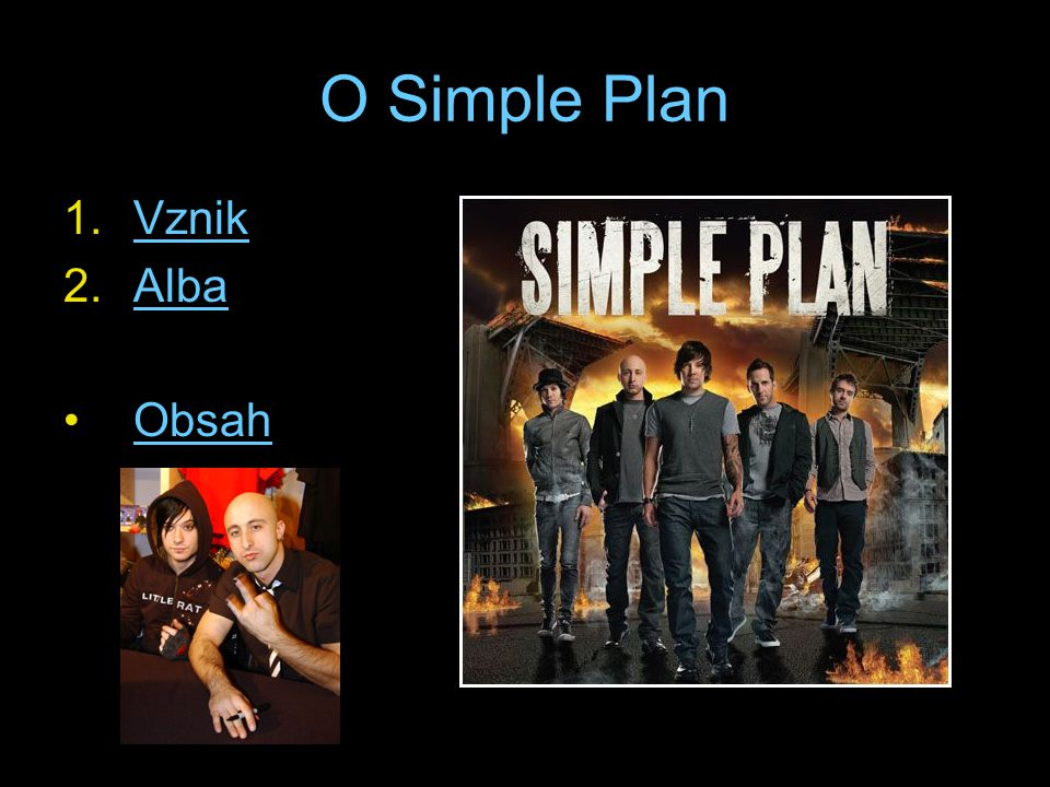 O Simple Plan Vznik Alba Obsah