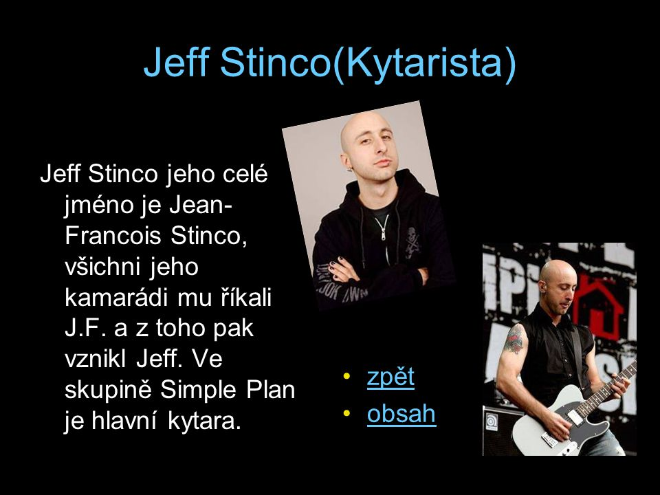 Jeff Stinco(Kytarista)