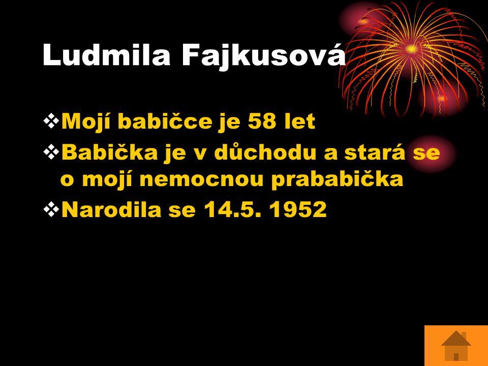 Ludmila Fajkusová Mojí babičce je 58 let