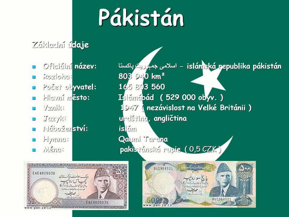 Pákistán Základní údaje