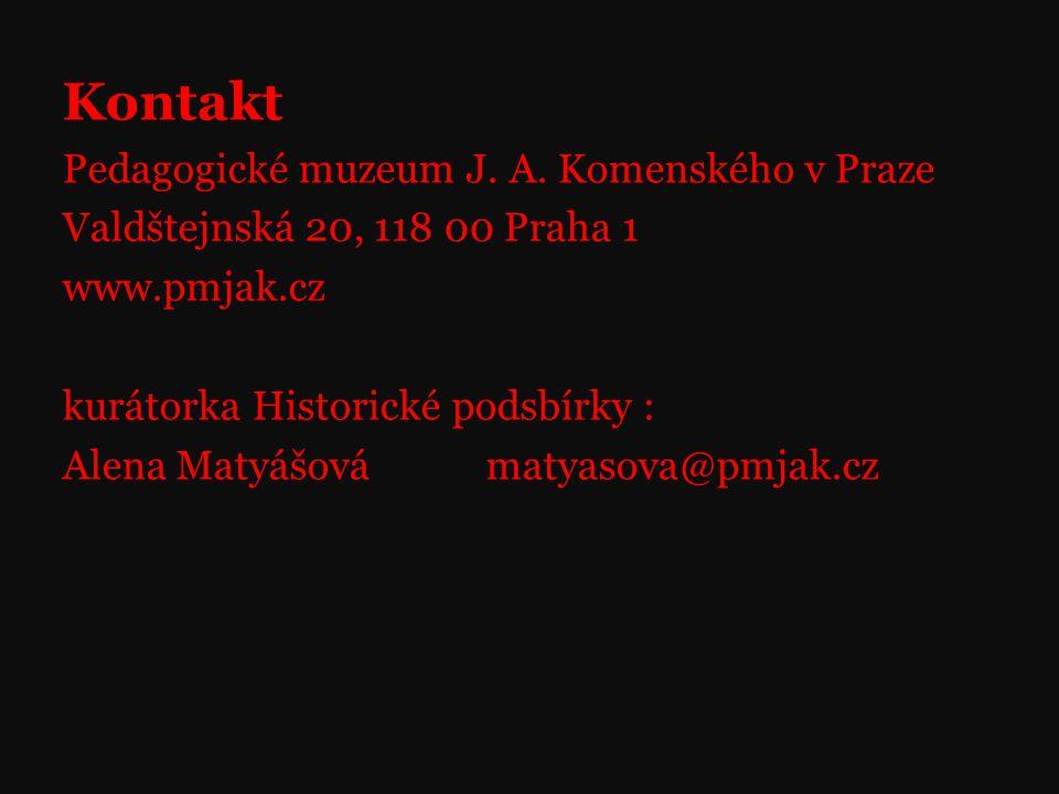 Kontakt Pedagogické muzeum J. A. Komenského v Praze